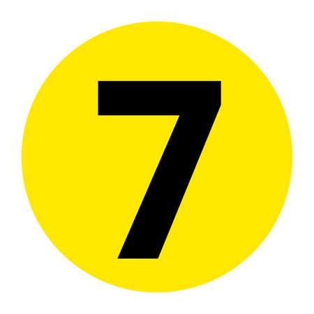 Number 7 Floor Marker Symbol, Vector Illustration, Isolate On White Background Label. EPS10 向量圖像