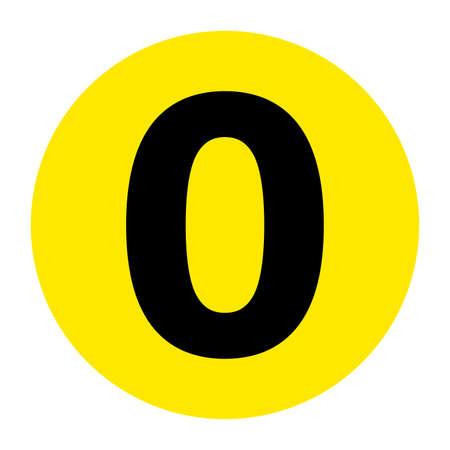 Number 0 Floor Marker Symbol, Vector Illustration, Isolate On White Background Label. EPS10