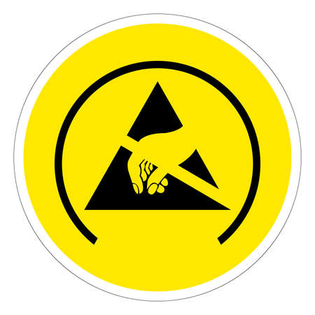 ESD Protective Area Symbol Sign, Vector Illustration, Isolated On White Background Label .EPS10 向量圖像