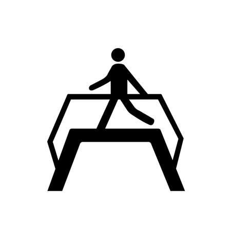 Use Footbridge Black Icon,Vector Illustration, Isolated On White Background Label.
