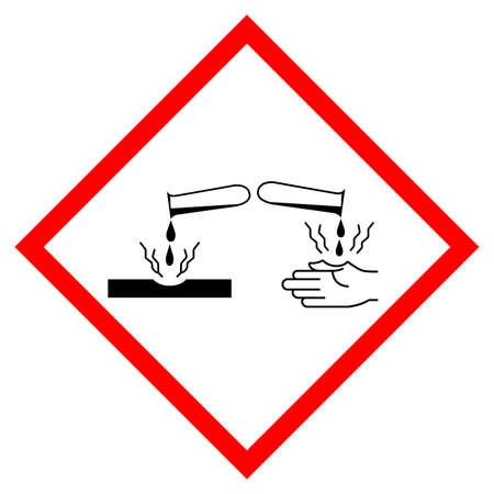 Corrosion Symbol Sign, Vector Illustration, Isolate On White Background Label .EPS10 向量圖像