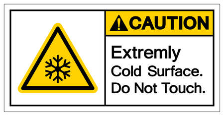 Caution Extremely Cold Surface Do Not touch Symbol, Vector Illustration, Isolated On White Background Label. 向量圖像