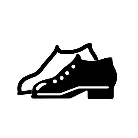 Enclosed Shoes Black Icon,Vector Illustration, Isolated On White Background Label.