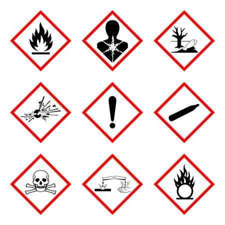 GHS Hazard Symbol Sign, Vector Illustration, Isolate On White Background, Label .EPS10