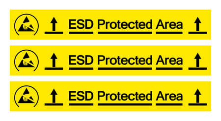 ESD Pretected Area Symbol Sign, Vector Illustration, Isolated On White Background Label .EPS10