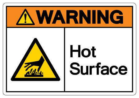 Warning Hot Surface Symbol, Vector Illustration, Isolate On White Background Label. EPS10 向量圖像