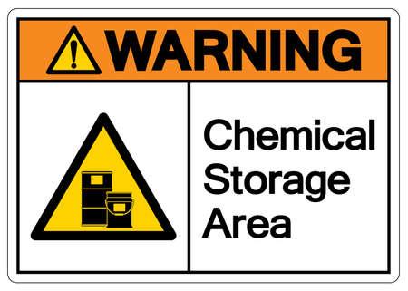 Warning Chemical Storage Area Symbol, Vector Illustration, Isolate On White Background Label. EPS10 向量圖像