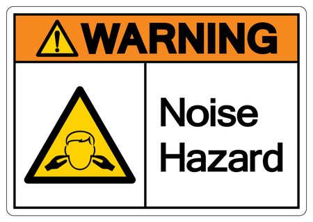 Warning Noise Hazard Symbol Sign, Vector Illustration, Isolate On White Background Label. EPS10
