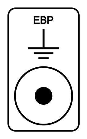 EBP Symbol Sign, Vector Illustration, Isolated On White Background Label .EPS10