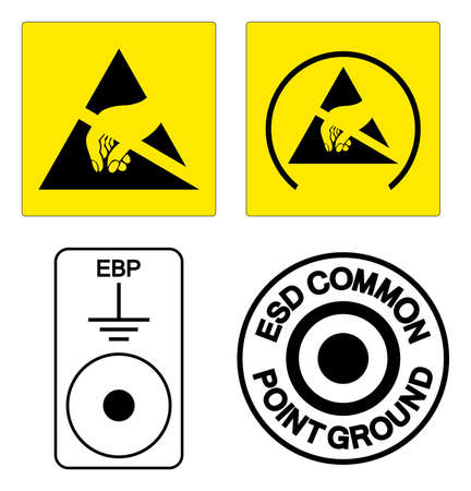 ESD Symbol Sign, Vector Illustration, Isolated On White Background Label .EPS10 向量圖像
