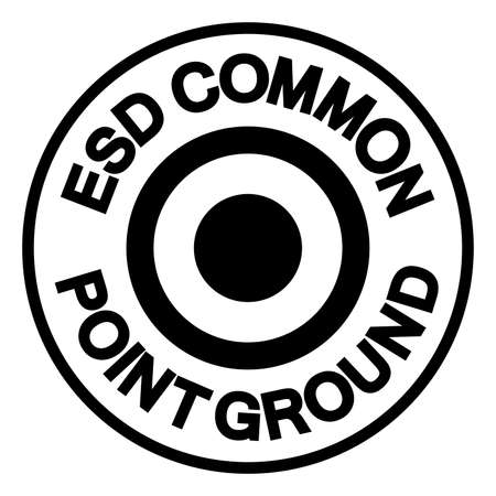 ESD Common Point Ground Symbol Sign, Vector Illustration, Isolated On White Background Label .EPS10