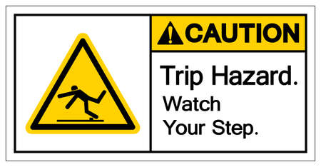 Caution Trip Hazard Watch Your Step Symbol, Vector Illustration, Isolate White Background Label. EPS10