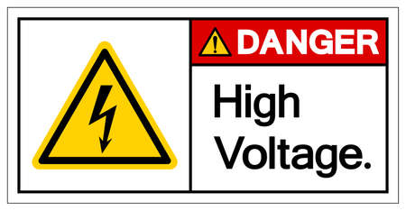 Danger High Voltage Symbol Sign ,Vector Illustration, Isolate On White Background Label.