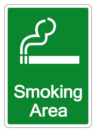 Smoking Area Symbol Sign, Vector Illustration, Isolate On White Background Label .EPS10