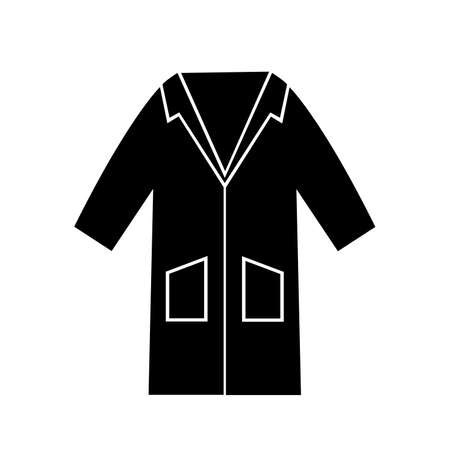 Wear Smock Black Icon,Vector Illustration, Isolated On White Background Label. Illustration