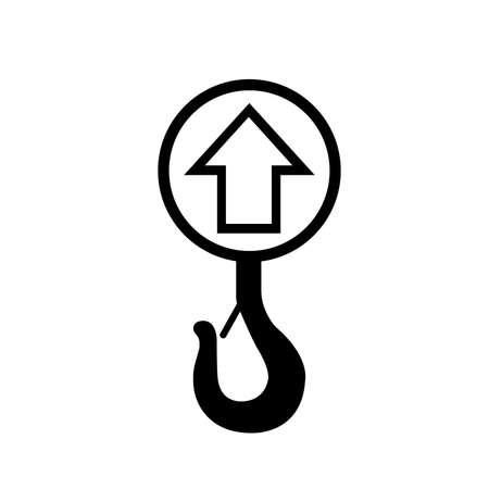 Lift Point Black Icon, Vector Illustration, Isolate On White Background Label.