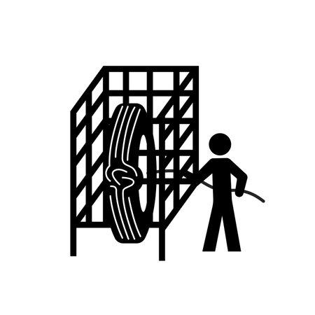 Cage Black Icon, Vector Illustration, Isolate On White Background Label. EPS10