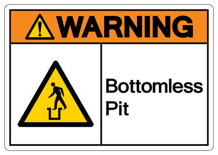 Warning Bottomless Pit Symbol Sign,Vector Illustration, Isolate On White Background Label.