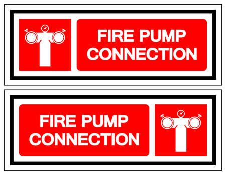 Fire Pump Connection Symbol Sign ,Vector Illustration, Isolate On White Background Label