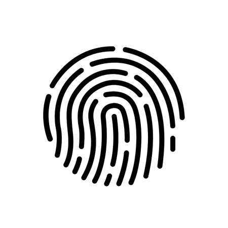 Touch ID Symbol Sign, Vector Illustration, Isolate On White Background Label .