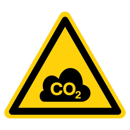 Co2 Symbol Sign, Vector Illustration, Isolate On White Background Label.