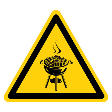 Barbeque Bbq Area Symbol Sign, Vector Illustration, Isolate On White Background Label.