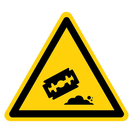 Warning Cocaine Area Symbol Sign, Vector Illustration, Isolate On White Background Label.
