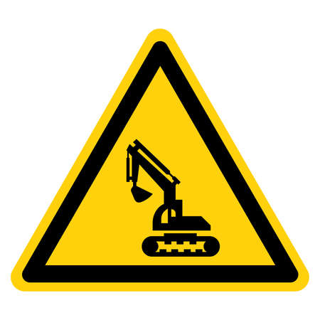 Construction Area Symbol Sign, Vector Illustration, Isolate On White Background Label.