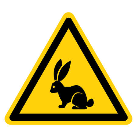 Rabbit Hunter Area Symbol Sign, Vector Illustration, Isolate On White Background Label.