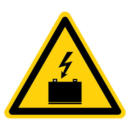 Batteries Being Charged Symbol Sign, Vector Illustration, Isolate On White Background Label. Illustration