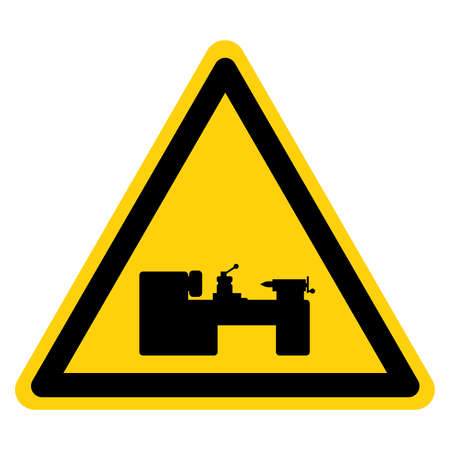 Machinery Area  Symbol Sign, Vector Illustration, Isolate On White Background Label.