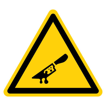 Crime Area Symbol Sign, Vector Illustration, Isolate On White Background Label.