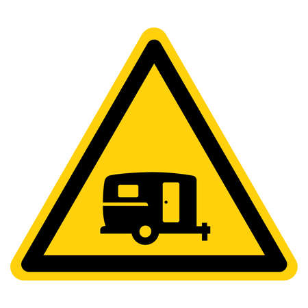 Caravan Area Symbol Sign, Vector Illustration, Isolate On White Background Label.