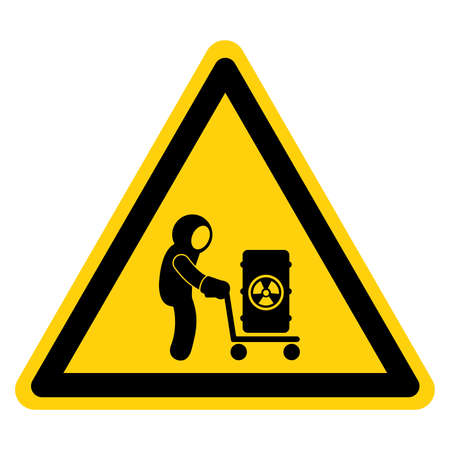 Radioactive Area Symbol Sign, Vector Illustration, Isolate On White Background Label.