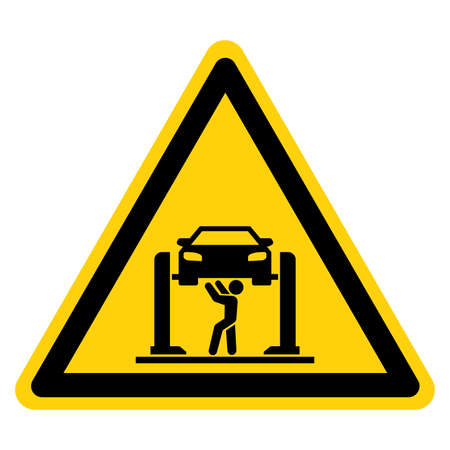 Mechanic Area Symbol Sign, Vector Illustration, Isolate On White Background Label.