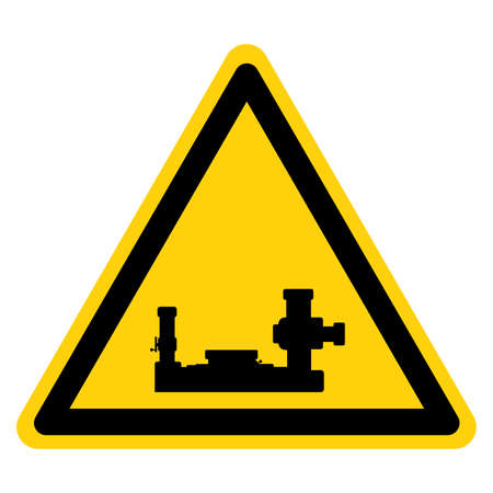 Machinery Area Symbol Sign, Vector Illustration, Isolate On White Background Label. EPS10 Illusztráció
