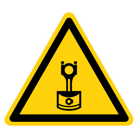 Machine Piston Symbol Sign, Vector Illustration, Isolate On White Background Label. EPS10 Banque d'images - 164155547