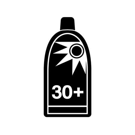 Sun Protection Black Icon, Vector Illustration, Isolate On White Background Label. EPS10