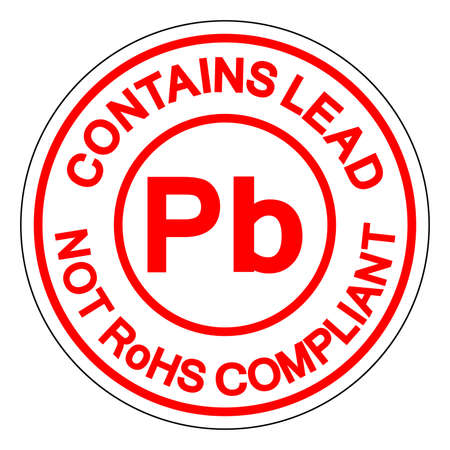 Contains Lead Pb Not Rohs Compliant Symbol Sign, Vector Illustration, Isolate On White Background Label.