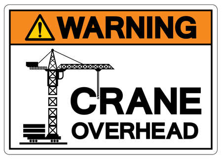 Warning Crane Overhead Symbol Sign, Vector Illustration, Isolate On White Background Label Illusztráció