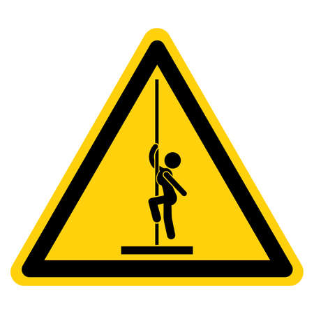 Pole Dance Area Symbol Sign, Vector Illustration, Isolate On White Background Label.