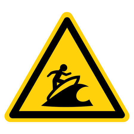 Surf Area Symbol Sign, Vector Illustration, Isolate On White Background Label.