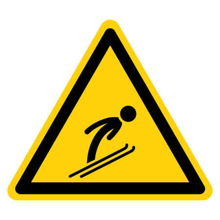 Ski Sports Area Symbol Sign, Vector Illustration, Isolate On White Background Label. EPS10