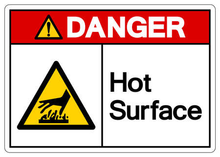 Danger Hot Surface Symbol, Vector Illustration, Isolate On White Background Label. EPS10 Illusztráció