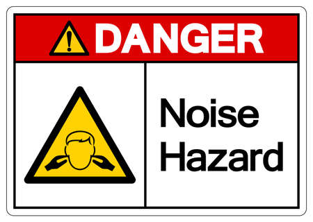 Danger Noise Hazard Symbol Sign, Vector Illustration, Isolate On White Background Label. EPS10