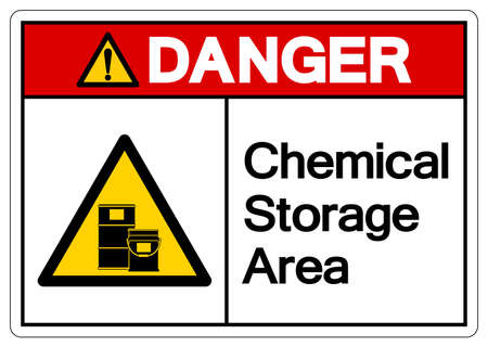 Danger Chemical Storage Area Symbol, Vector Illustration, Isolate On White Background Label. EPS10 Illusztráció