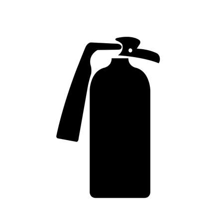 Fire Extinguisher Black Icon, Vector Illustration, Isolate On White Background Label. EPS10 Illusztráció
