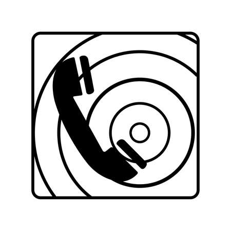 Fire Telephone Black Icon, Vector Illustration, Isolate On White Background Label. EPS10