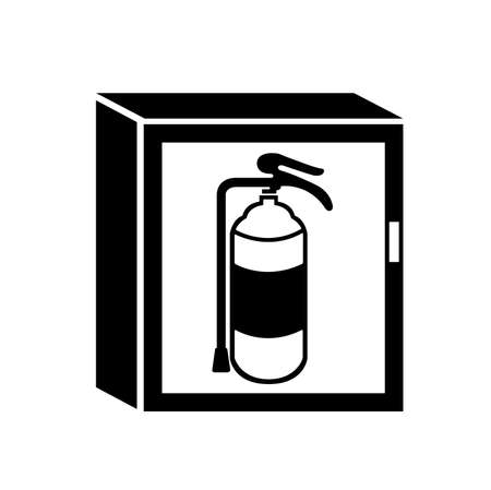 Fire Cabinet Black Icon, Vector Illustration, Isolate On White Background Label. EPS10 Illusztráció