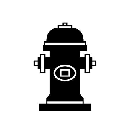 Fire Hydrant Black Icon, Vector Illustration, Isolate On White Background Label. EPS10